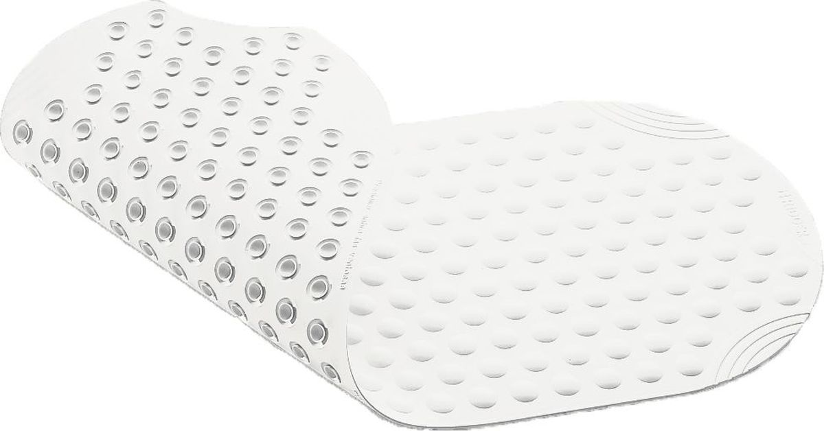"""Коврик для ванной Ridder """"Tecno"""", противоскользящий, на присосках, цвет: белый, 38 х 89 см"""