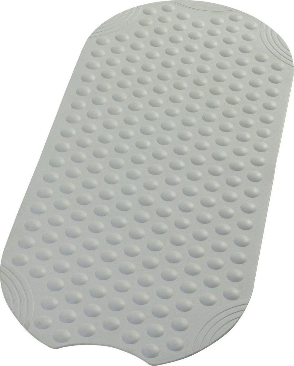 """Коврик для ванной Ridder """"Tecno"""", противоскользящий, на присосках, цвет: серый, 38 х 89 см"""