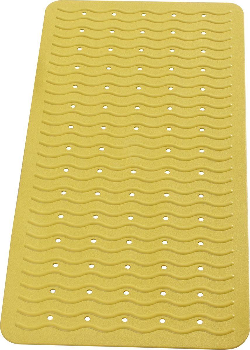 """Коврик для ванной Ridder """"Playa"""", противоскользящий, на присосках, цвет: желтый, 38 х 80 см"""
