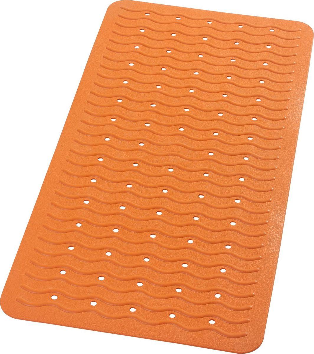 """Коврик для ванной Ridder """"Playa"""", противоскользящий, на присосках, цвет: оранжевый, 38 х 80 см"""