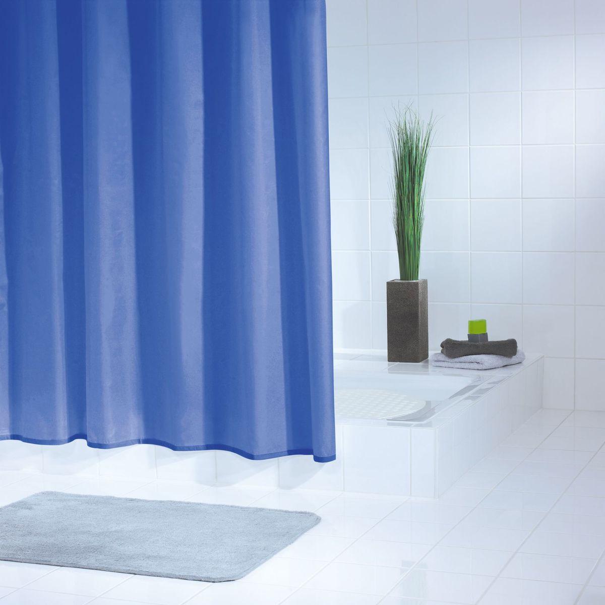 Штора для ванной комнаты Ridder Standard, цвет: синий, голубой, 180 х 200 см штора для ванной комнаты ridder helgoland цвет синий голубой 240 х 180 см