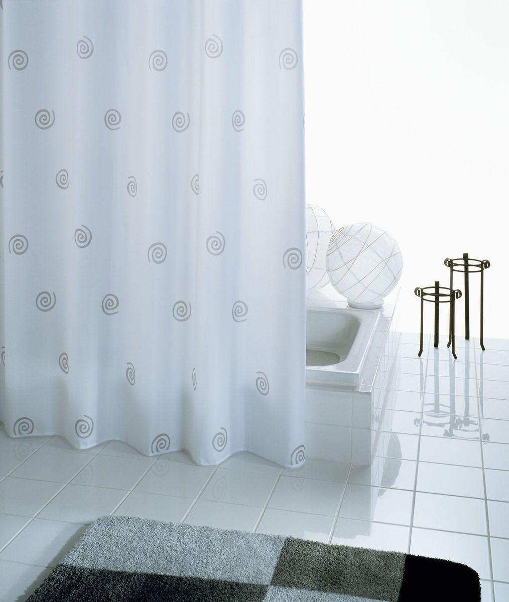 Штора для ванной комнаты Ridder Univers, цвет: белый, 180 х 200 см штора для ванной комнаты ridder helgoland цвет синий голубой 240 х 180 см