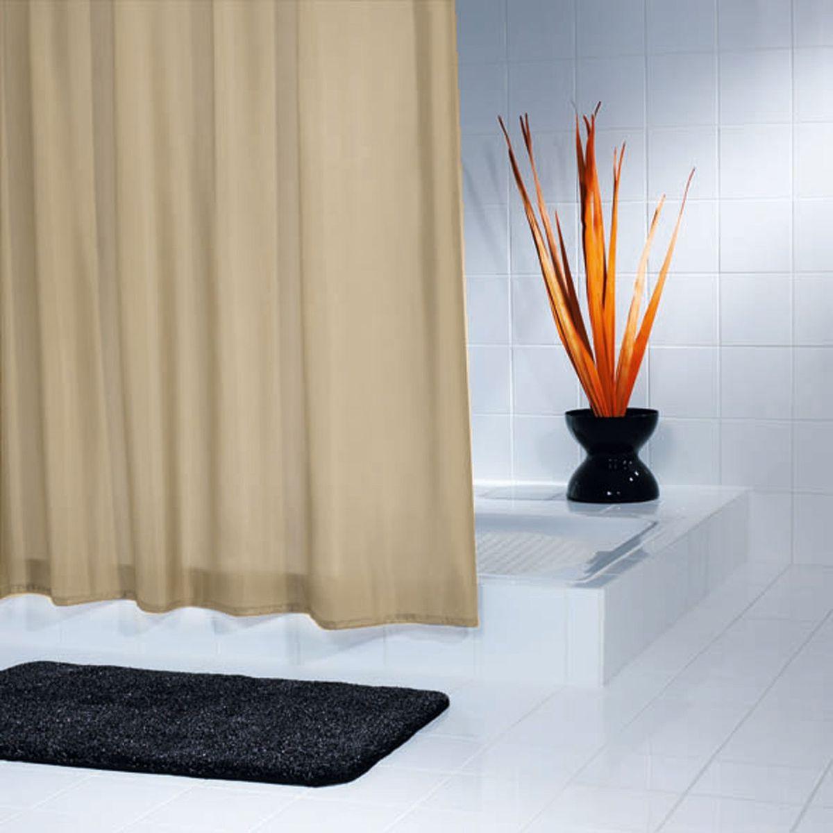 Штора для ванной комнаты Ridder Madison, цвет: бежевый, коричневый, 240 х 180 см