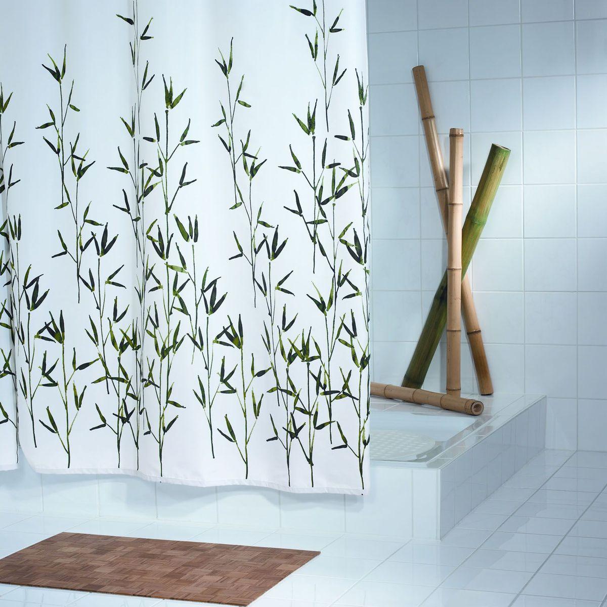 Штора для ванной комнаты Ridder Bambus, цвет: зеленый, 180 х 200 см штора для ванной комнаты ridder helgoland цвет синий голубой 240 х 180 см