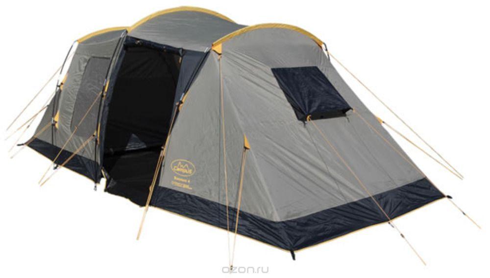 Палатка Campus Bordeaux 4, цвет: бежевый, графитовый, желтый палатки