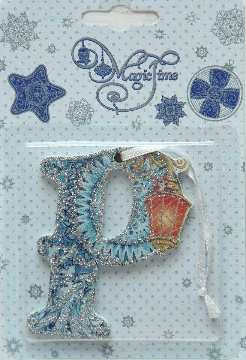 Украшение новогоднее подвесное Magic Time Р, 8 х 6 см украшение новогоднее подвесное magic time часы в чашке 6 8 х 6 8 х 7 см
