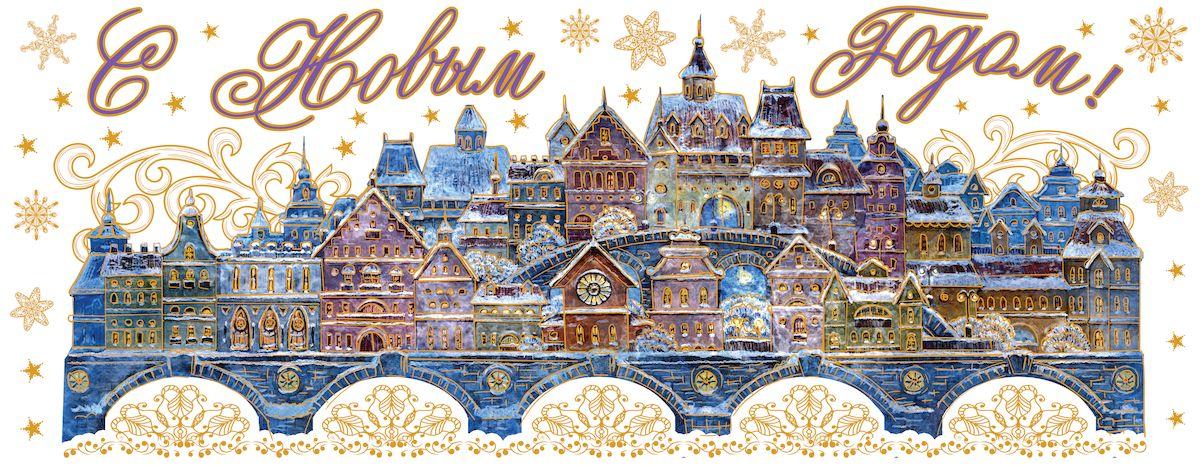 Украшение новогоднее оконное Magic Time Сказочный город, 54 х 21 см магнит декоративный magic time сказочный город 5 x 6 см 42280