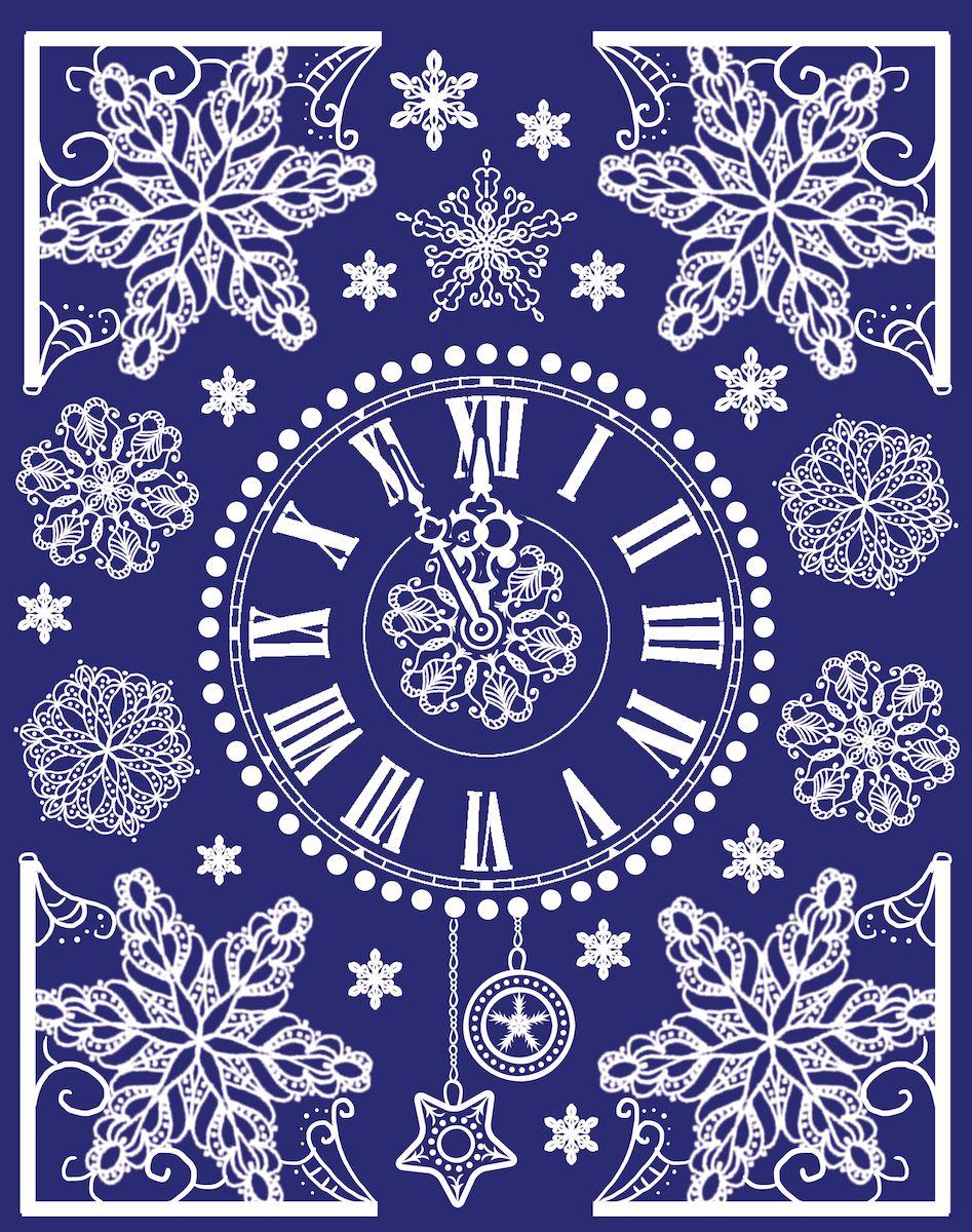 """Украшение новогоднее оконное Magic Time """"Новогодние часы"""", 30 х 38 см"""