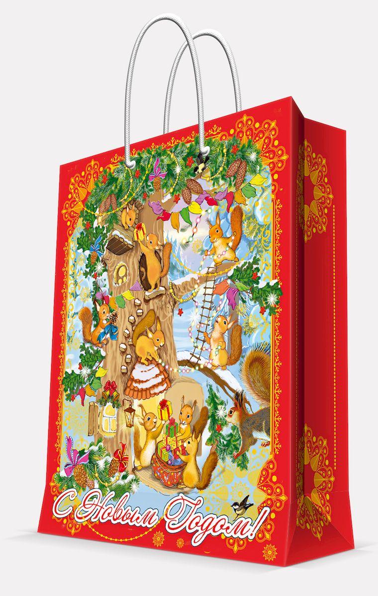 """Пакет подарочный Magic Time """"Белочки"""", 17,8 х 22,9 х 9,8 см"""