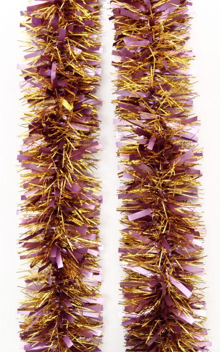 Мишура новогодняя Magic Time цвет  розовый золотистый диаметр 9 см длина 200 см  42130
