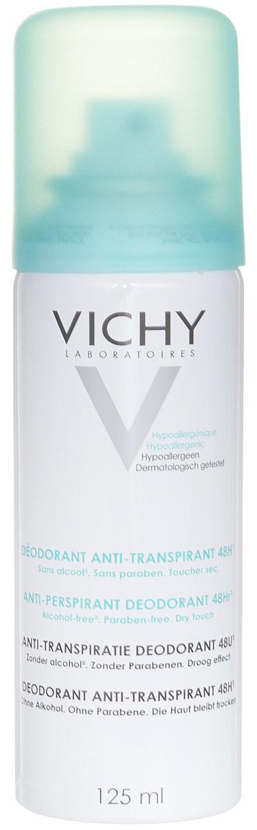 Vichy Дезодорант-аэрозоль, регулирующий избыточное потоотделение 24 часа, 125 мл дезодорант крем vichy deodorant регулирующий избыточное потоотделение 7 дней
