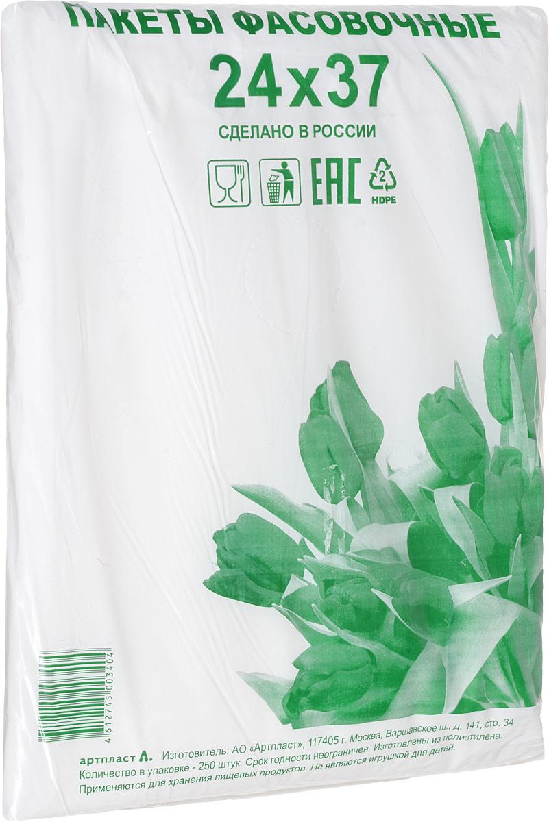 Пакет фасовочный Артпласт Тюльпаны зеленые, 24 х 37 см, 250 шт пакеты prolang фасовочные 24 37 в пласте 1000шт 7шт 1639