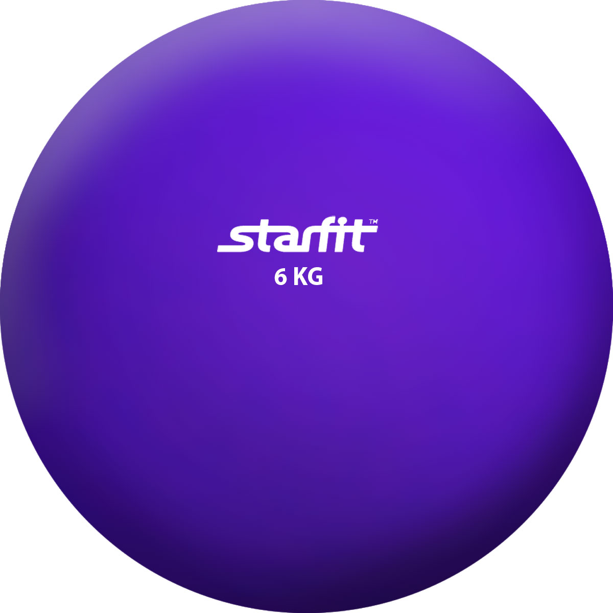 Медбол STARFIT GB-703, 6 кг, фиолетовый 1/2 цена