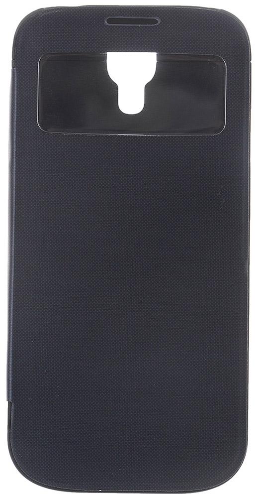EXEQ HelpinG-SF07 чехол-аккумулятор для Samsung Galaxy S4, Black (2600 мАч, Smart cover, флип-кейс)