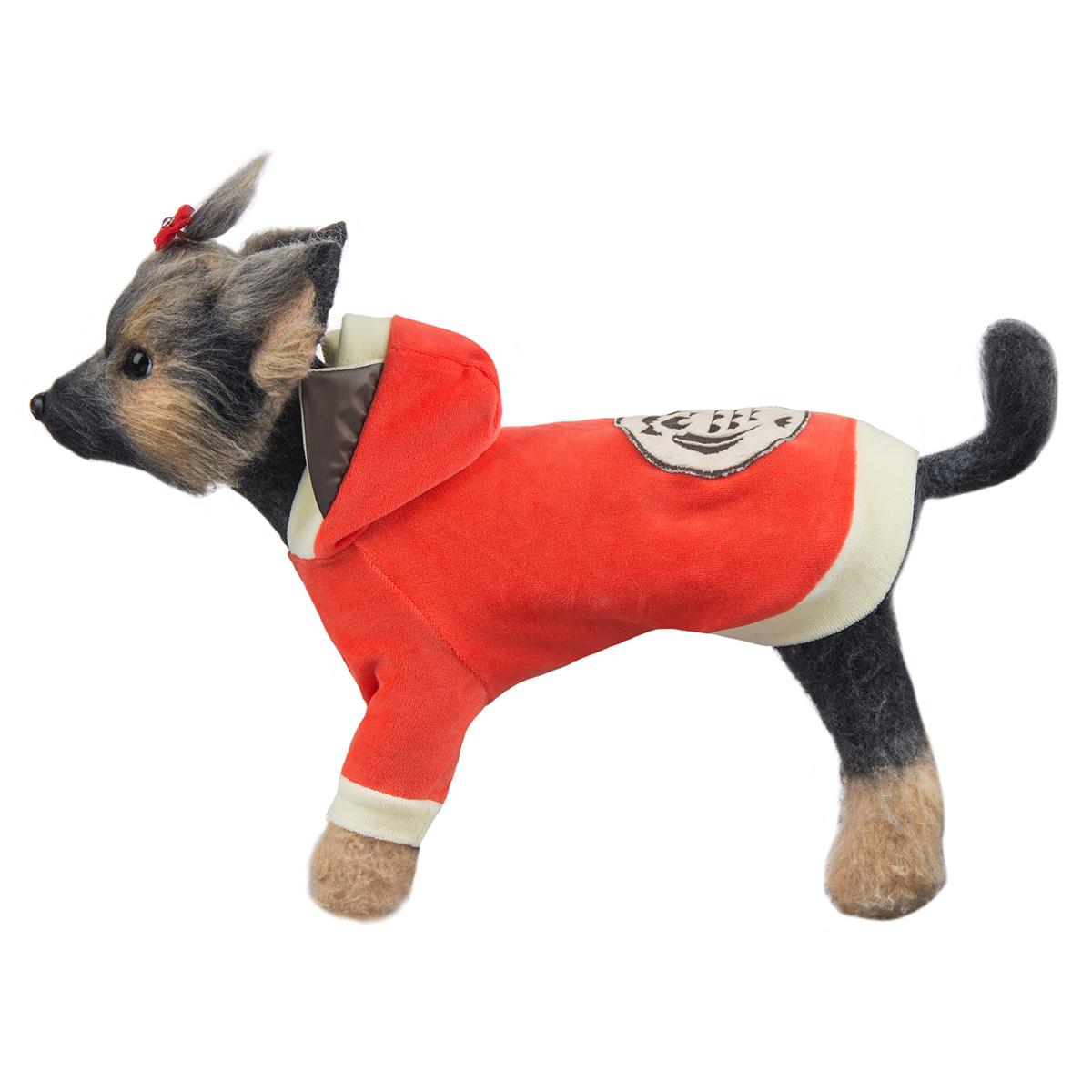 """Куртка для собак Dogmoda """"Сова"""", унисекс, цвет: оранжевый. Размер 2 (M)"""
