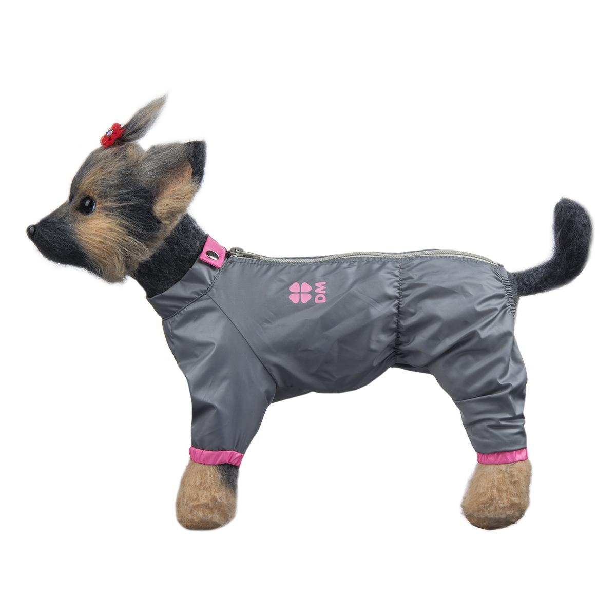 Комбинезон для собак Dogmoda Тревел, для девочки, цвет: серый, розовый. Размер 1 (S) комбинезон для собак dogmoda тревел для девочки цвет серый розовый размер 3 l