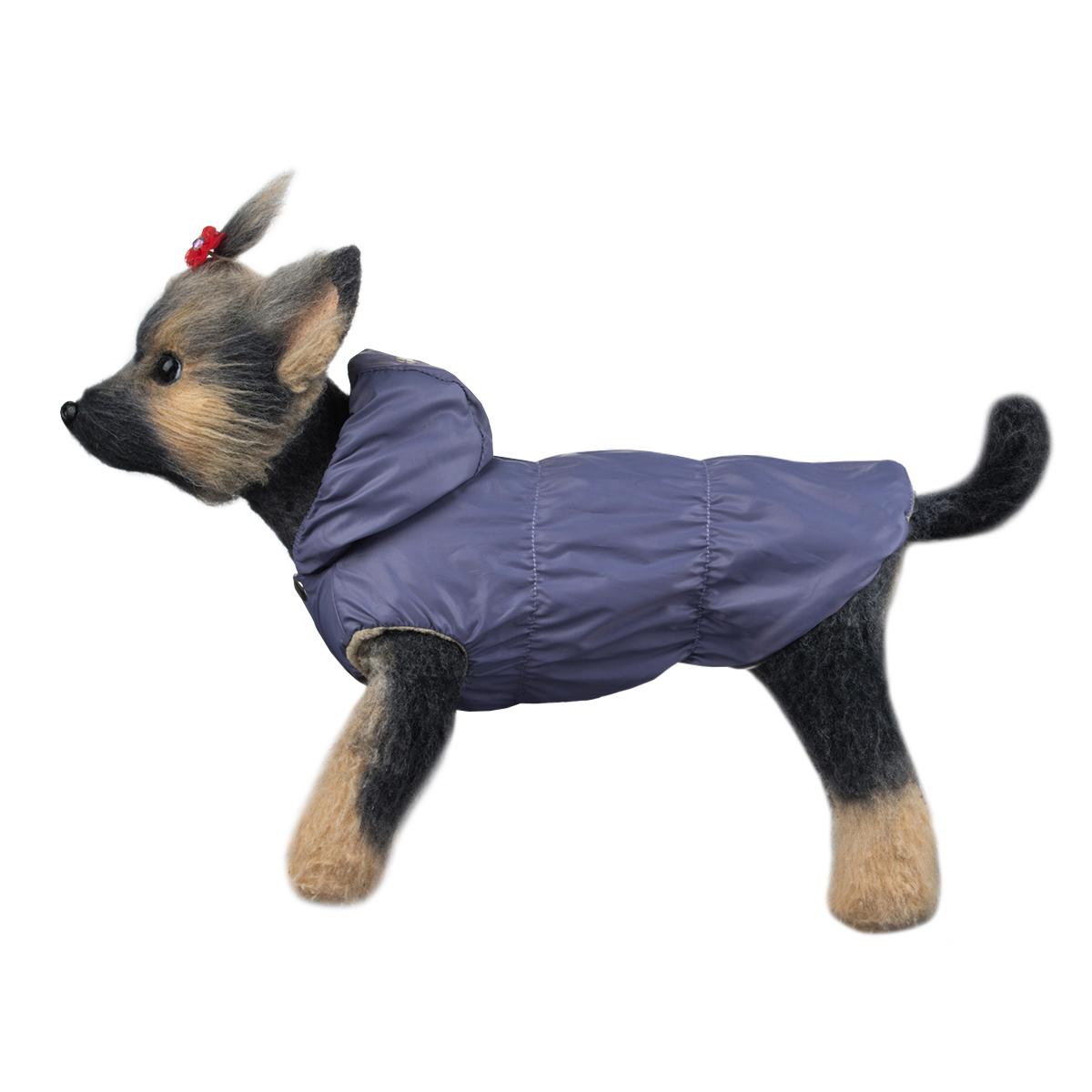 """Куртка для собак Dogmoda """"Сезон"""", унисекс, цвет: серо-фиолетовый. Размер 3 (L)"""