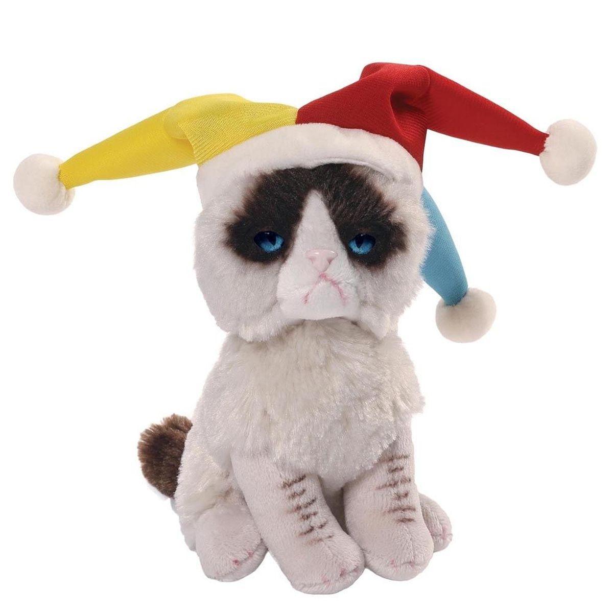Gund Мягкая игрушка Grumpy Cat Jester 12,5 см недорого