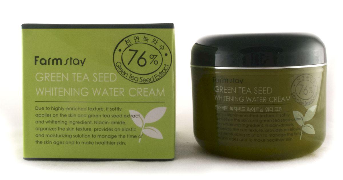 FarmStay Увлажняющий осветляющий крем с семенами зеленого чая, 100 г royal goufang v7 pseudocosmetics крем для макияжа 20 г увлажняющий увлажняющий осветляющий состав обнаженная макияж для макияжа