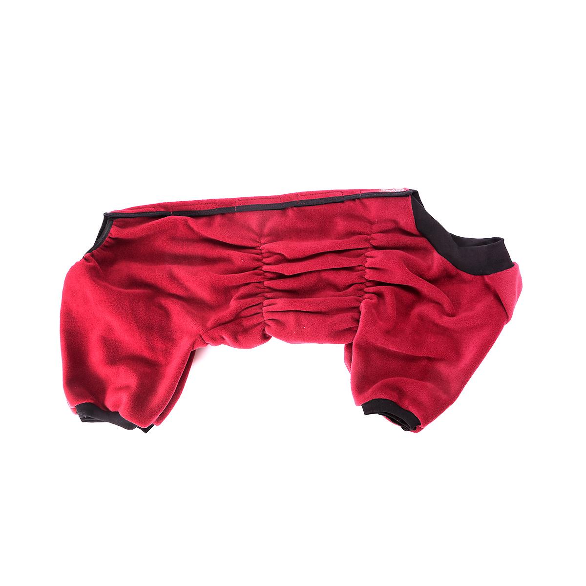 Комбинезон для собак OSSO Fashion, для девочки, цвет: бордовый. Размер 28 комбинезон для собак osso fashion для мальчика цвет черный размер 55