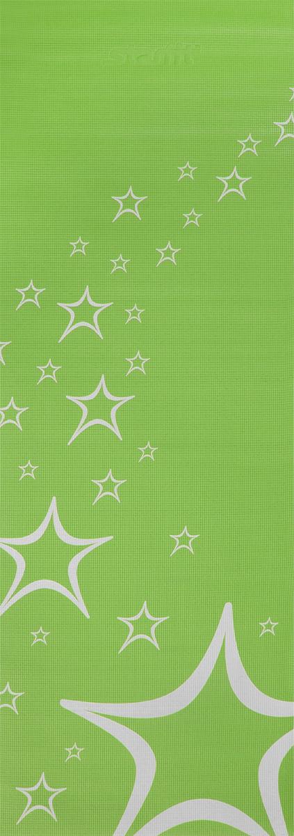 """Коврик для йоги Starfit """"FM-102"""", цвет: зеленый, 173 х 61 х 0,3 см"""