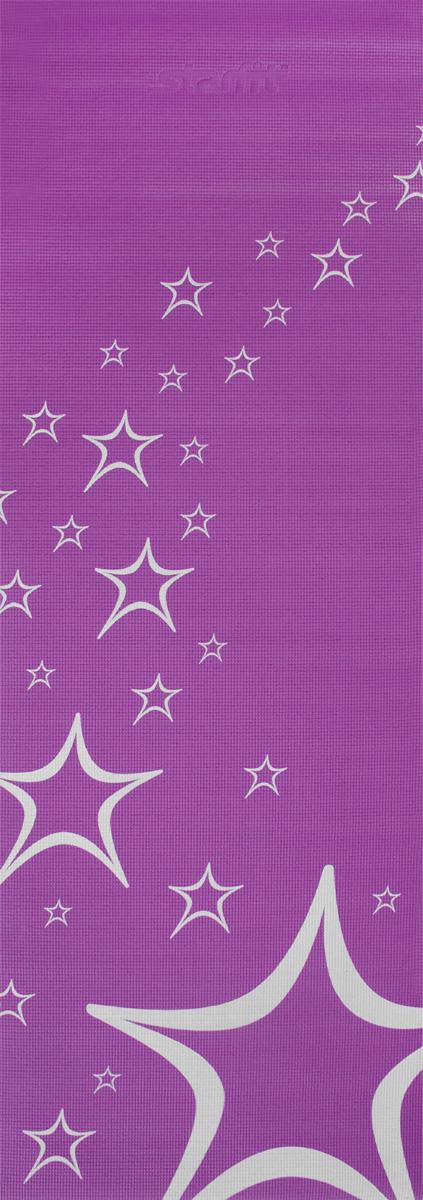 Коврик для йоги Starfit FM-102, цвет: фиолетовый, 173 х 61 х 0,4 см коврик для йоги onerun цвет фиолетовый 183 х 61 х 0 4 см