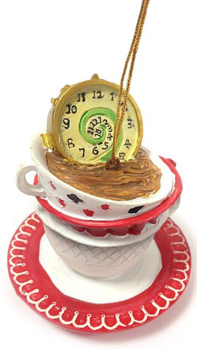 Украшение новогоднее подвесное Magic Time Часы в чашке, 6,8 х 6,8 х 7 см украшение новогоднее подвесное magic time часы в чашке 6 8 х 6 8 х 7 см