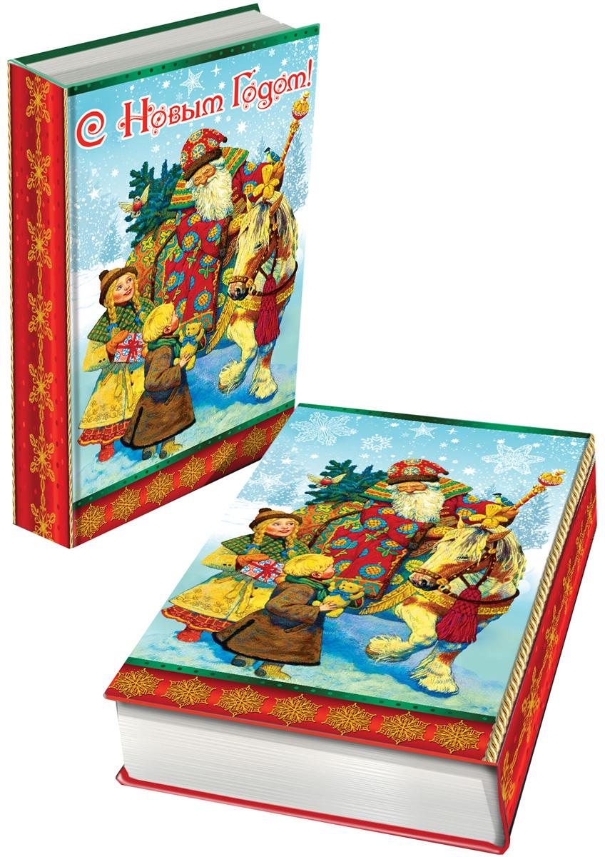 Шкатулка декоративная Magic Time Дед Мороз и дети, 17 х 11 х 5 см. 41717 пакет подарочный magic time дед мороз в красном кафтане 17 8 х 22 9 х 9 8 см