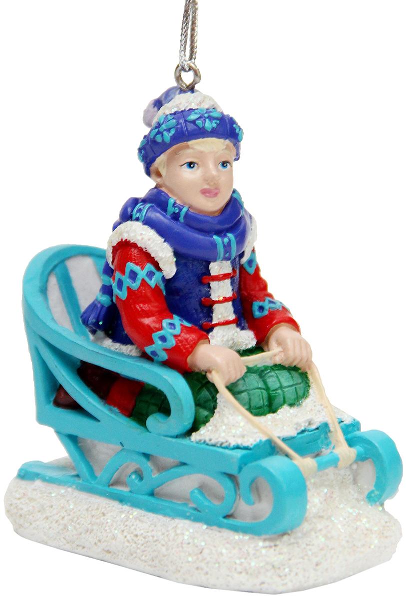 """Украшение новогоднее подвесное Феникс-Презент """"Кай"""", 6,7 x 4,4 x 7,8 см"""