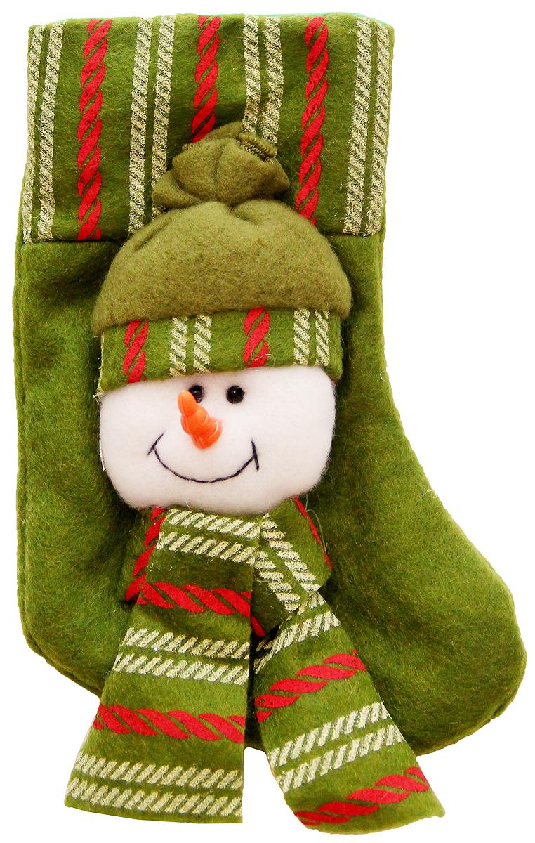 Украшение новогоднее подвесное Magic Time Снеговик в шапке, 17 x 9 см. 42535 феникс презент украшение новогоднее подвесное сова пират из полирезины