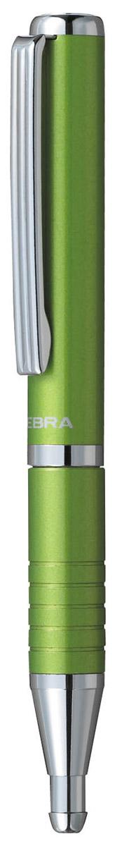 Фото - Zebra Ручка шариковая Slide синяя цвет корпуса салатовый