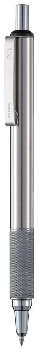 Zebra Ручка шариковая F-701 цвет корпуса серебристый ручка zebra j4sa11