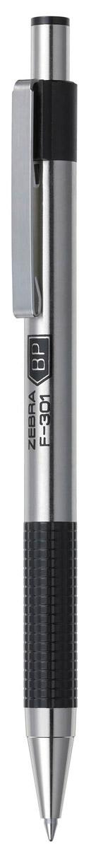 Zebra Ручка шариковая F-301 цвет корпуса серебристый черный ручка шариковая с корпусом из серебра e003 60141