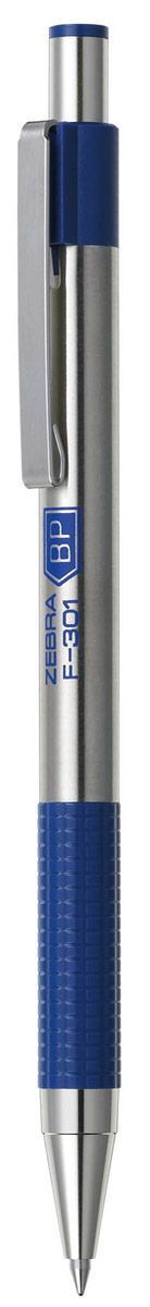 Zebra Ручка шариковая F-301 цвет корпуса серебристый синий все цены