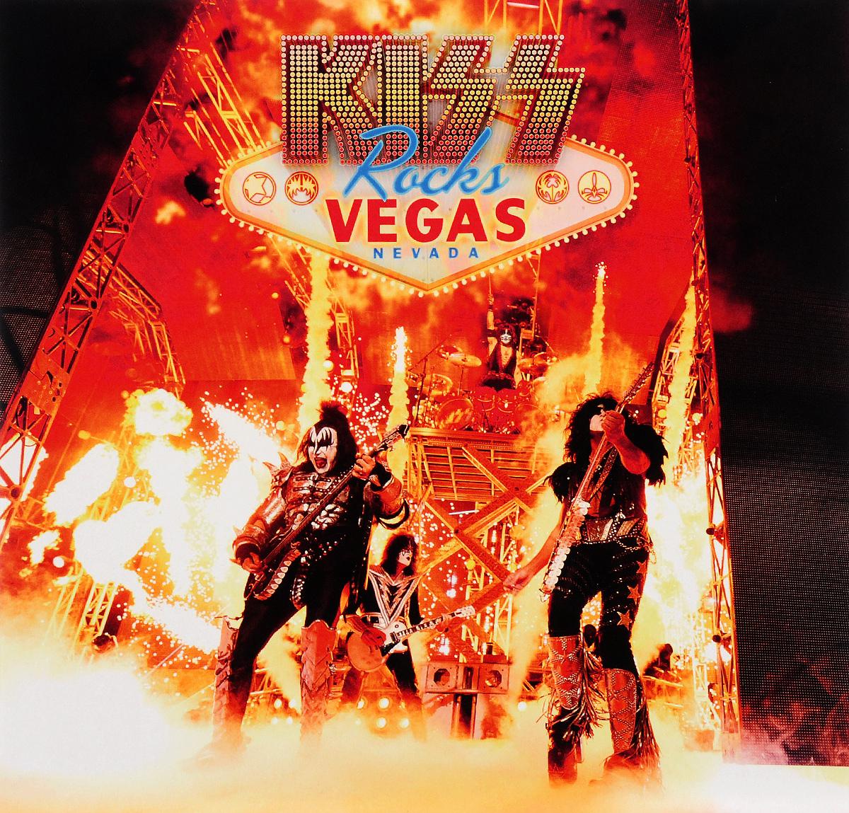 Kiss Kiss Kiss Rocks Vegas 2 LP + DVD