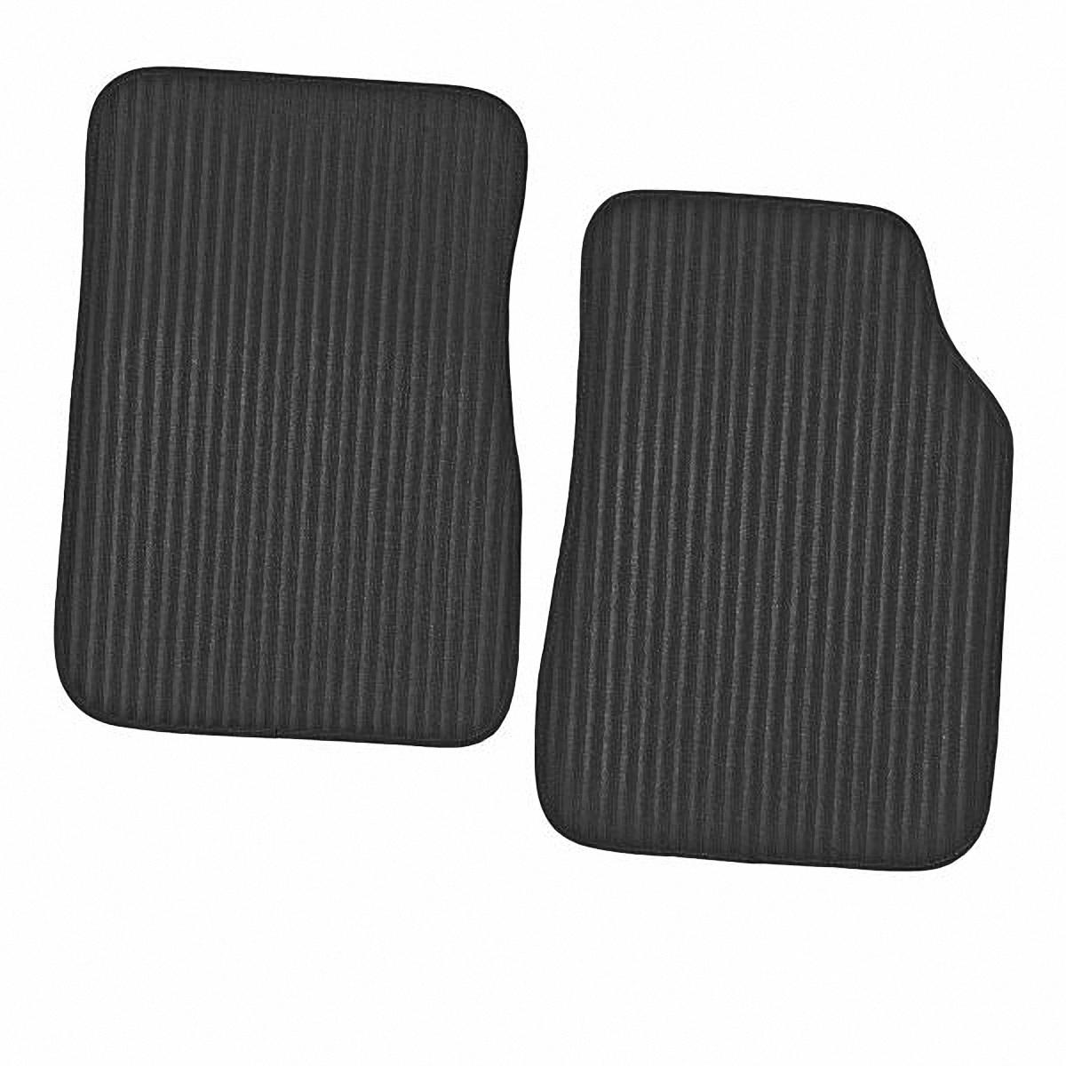 Коврик в салон автомобиля Skyway, передний, цвет: черный, 70 х 48 см, 2 шт комплект термобелья мужской серебряный пингвин лонгслив кальсоны цвет черный с 6051 к размер 48
