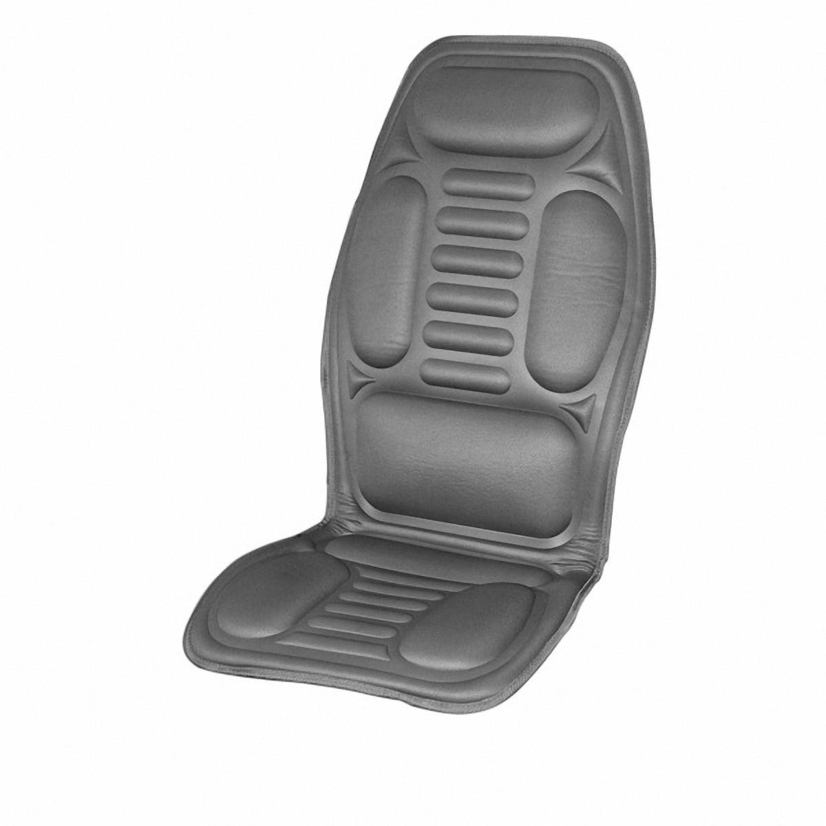 Подогрев для сиденья Skyway, со спинкой, цвет: серый, 120 х 51 см защита спинки сиденья skyway s06101011 black