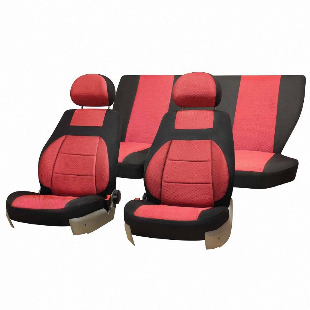 Фото - Чехлы автомобильные Skyway, для Lada Granta, цвет: красный, черный чехлы для приставок