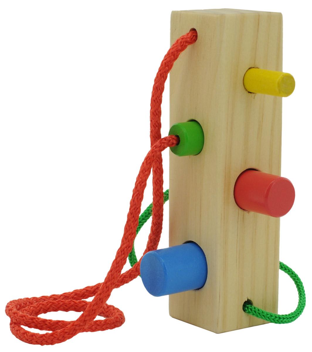 Фото - Мир деревянных игрушек Шнуровка-сортер Брусочек мир деревянных игрушек развивающая игрушка стучалка шарик и гвоздики