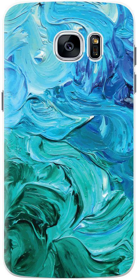 Deppa Art Case чехол для Samsung Galaxy S7 Edge, Art Волны цена 2017