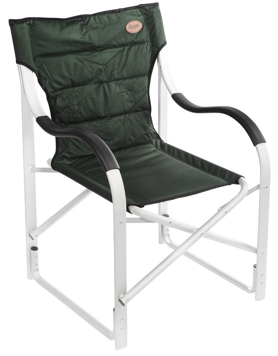 Кресло складное Canadian Camper CC-777AL, цвет: зеленый, стальной, черный кресло складное happy camper цвет желтый оранжевый