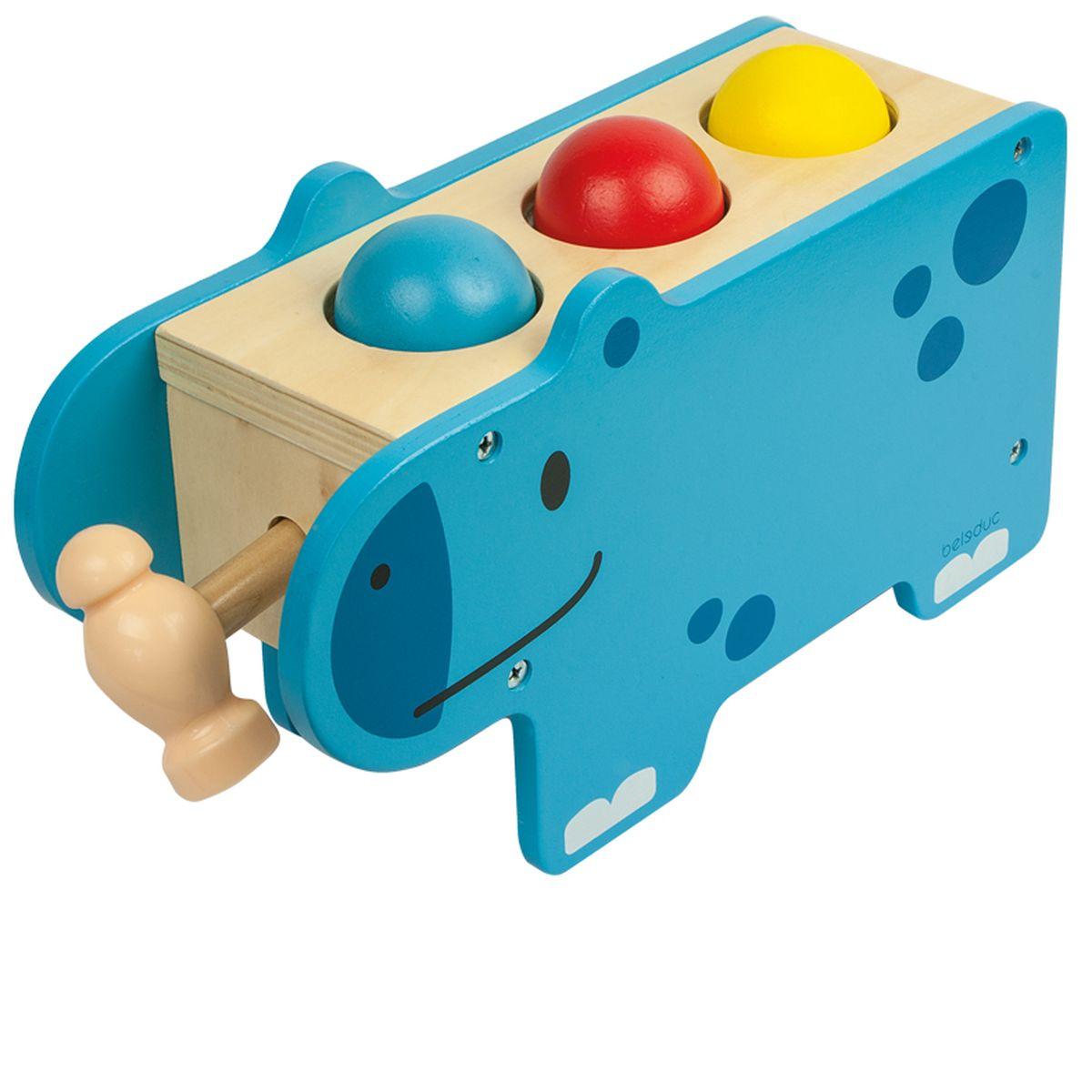 Beleduc Развивающая игрушка Веселый бегемотик