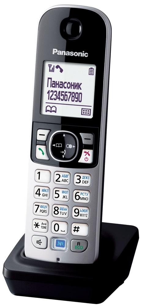 Дополнительная трубка для радиотелефона Panasonic KX-TGA681, серебристый, черный