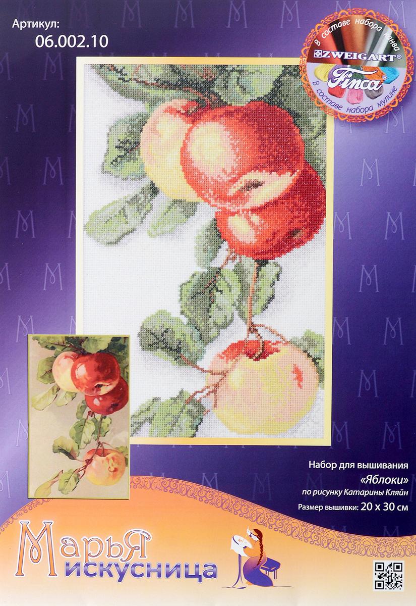 """Набор для вышивания крестом Марья Искусница """"Яблоки"""", 20 х 30 см"""