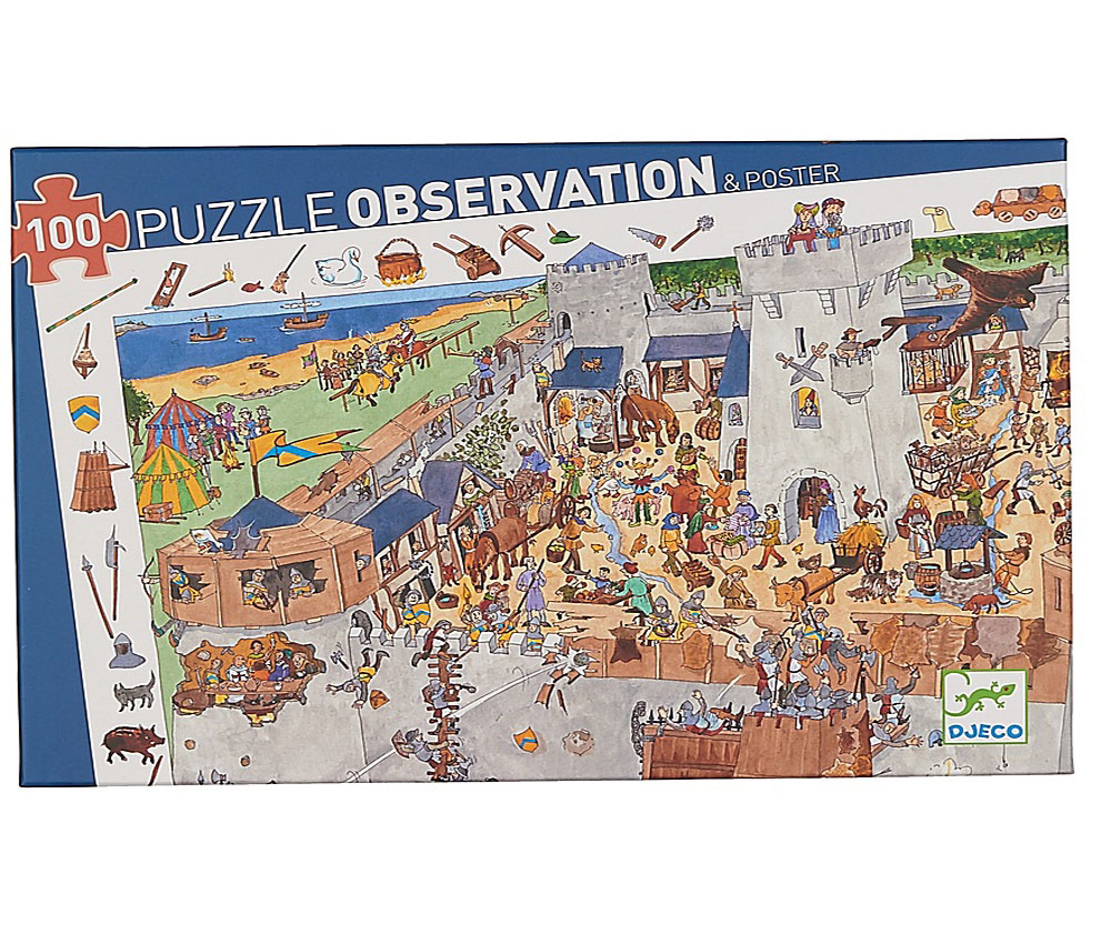 Djeco Пазл для малышей Замок-форт djeco пазл и игра на наблюдательность принцессы 54 детали djeco