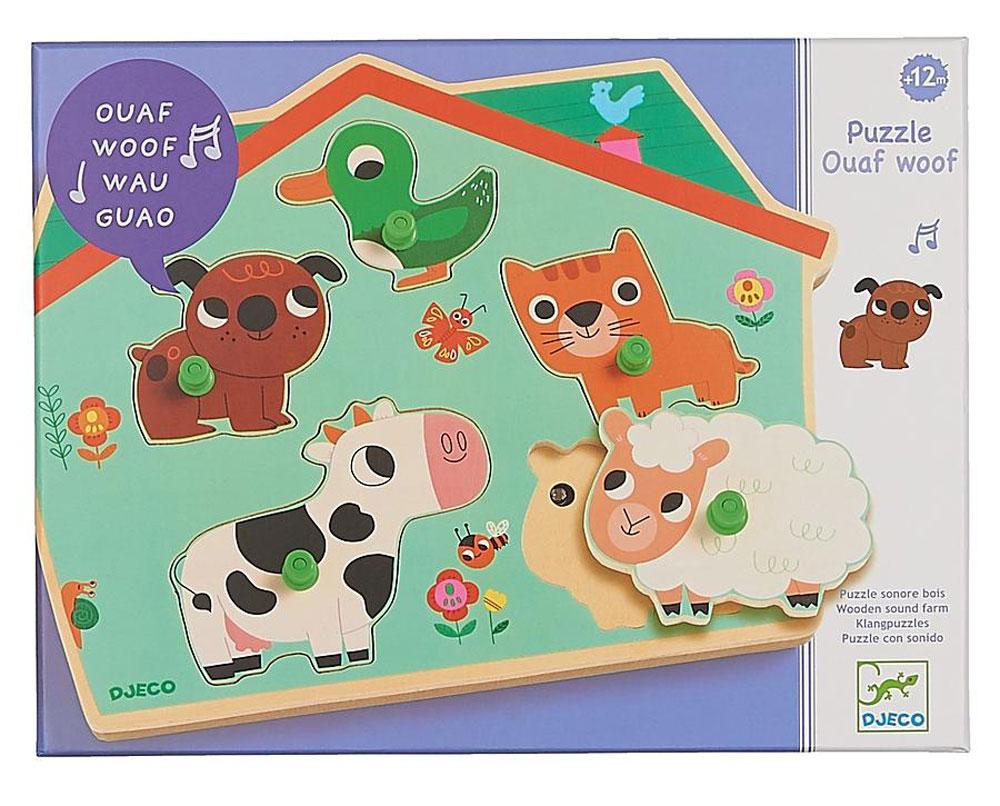Djeco Пазл для малышей Ферма 01707 djeco пазл для малышей мама и малыш