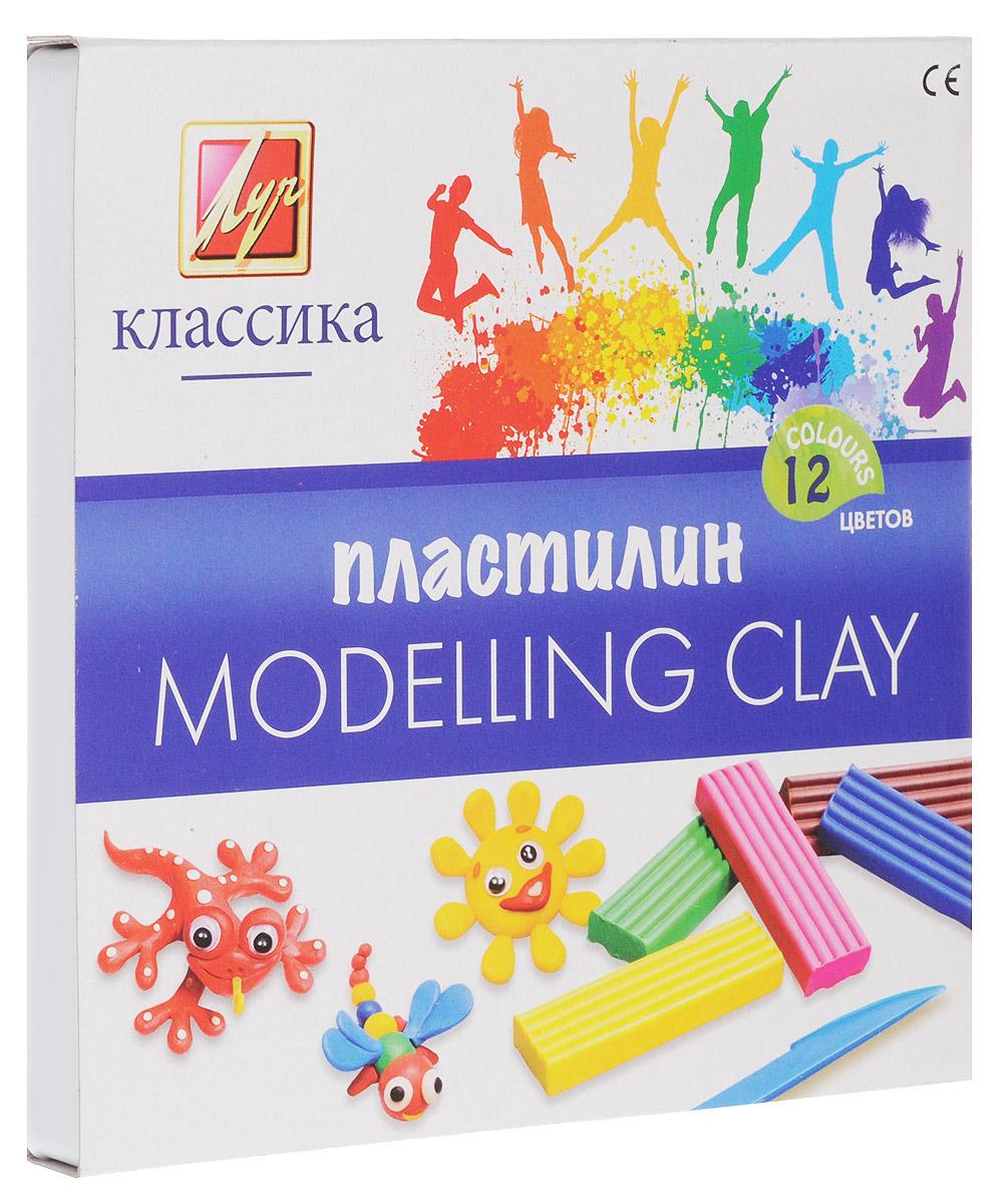 Луч Пластилин Классика 12 цветов набор для лепки bic kids пластилин 12 цветов 120гр 947713