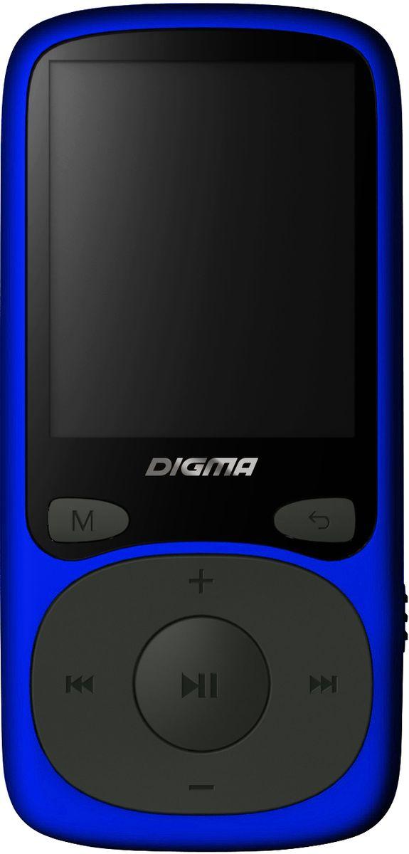 Digma B3 8Gb, Blue MP3-плеер видео для mp3 плеера