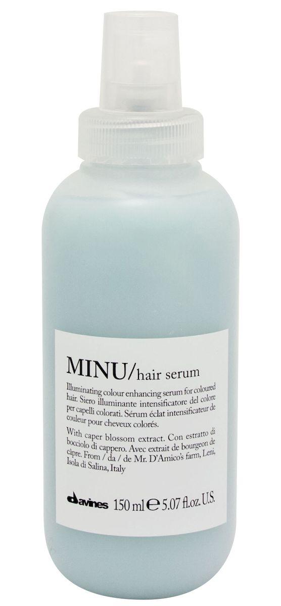 Davines Несмываемая сыворотка для окрашенных волос Essential Haircare New Minu Hair Serum, 150 мл davines защитный кондиционер для сохранения косметического цвета волос essential haircare new minu conditioner 250 мл