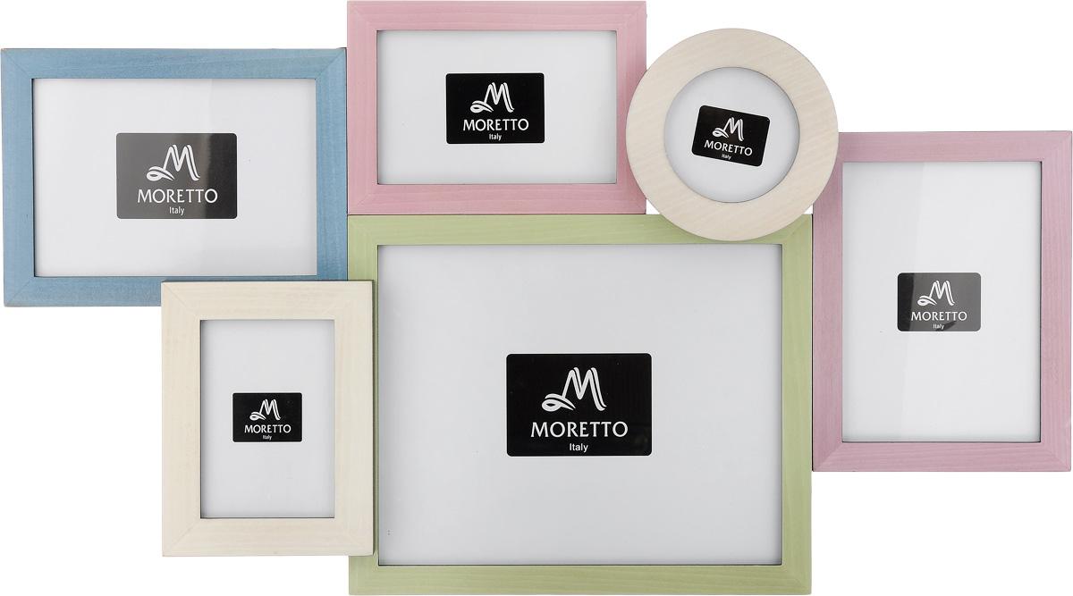 Фоторамка Moretto, на 6 фото. 238015 фоторамка коллаж moretto на 3 фото 25х24 см 138045